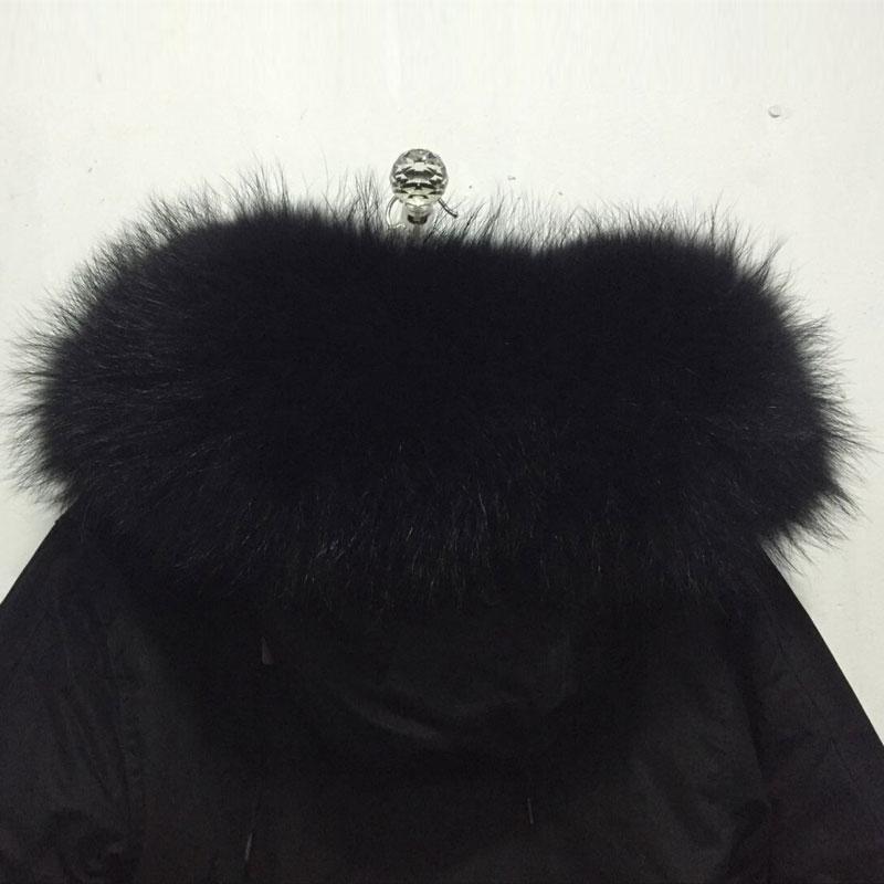 Avec De Fourrure Perles Fausse Vestes À Manteaux Allemagne En Capuche Laveur Raton Noir D'hiver Grande 10pIqnw