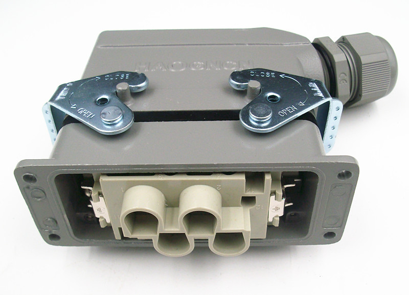 HDC-HK-4/2-006M/F Heavy Load Connector Rectangle Plug 6 Core 80A/16A Will Electric Current heavy duty connectors hdc he 024 1 f m 24pin industrial rectangular aviation connector plug 16a 500v