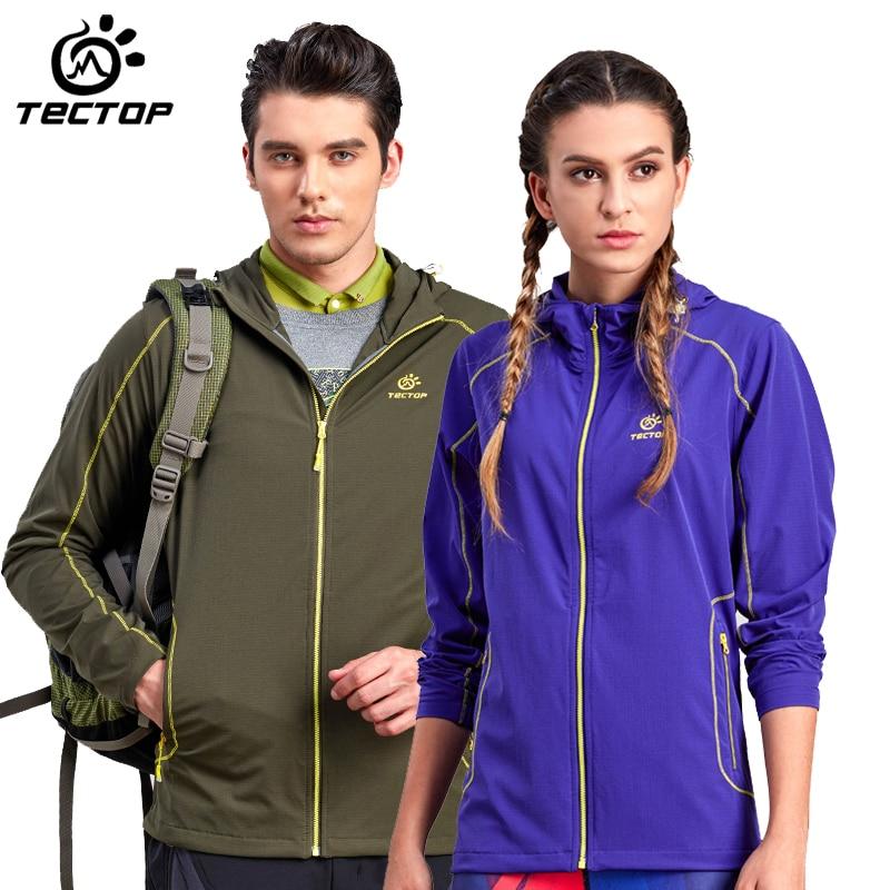 tectop Spring autumn men women Camping/Hiking jacket outdoor Sport Trench coat fishing Outwear male jackets Waterproof Windproof