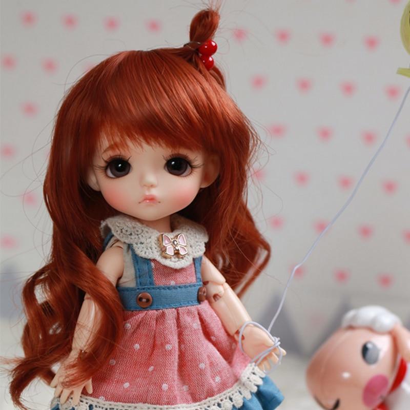 Free Shipping BJD Dolls Lati Yellow Sunny Lea Lami Kuro Coco 1/8 Lovely Flexible wig clothes shoe eye  Pukifee Oueneifs
