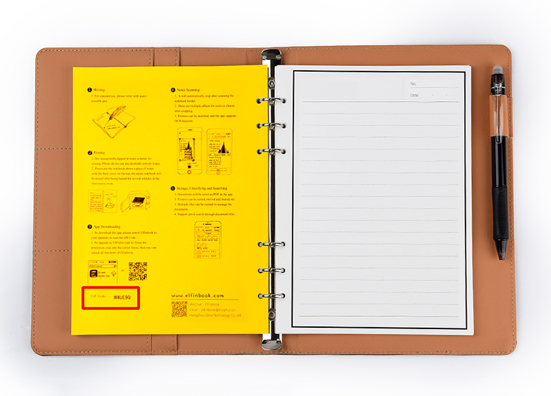 Elfinbook X Leather Erasable Smart Notebook With Pen Suitable For Kids And Students 11