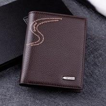 Фотография Ausuky Horizontal men wallets PU leather carteira masculina wallet zipper wallet men fashion mens wallets luxury male case 40