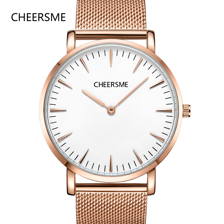 CHEERSME top brand wrist watches mens minimalism ultrathin milanese loop band watch men fashion orologio uomo erkek kol saati