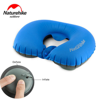 Naturehike U Shape Inflatable Pillow Sleeping Pad Travel Hand Press Cushion Soft Neck Protective HeadRest 70g
