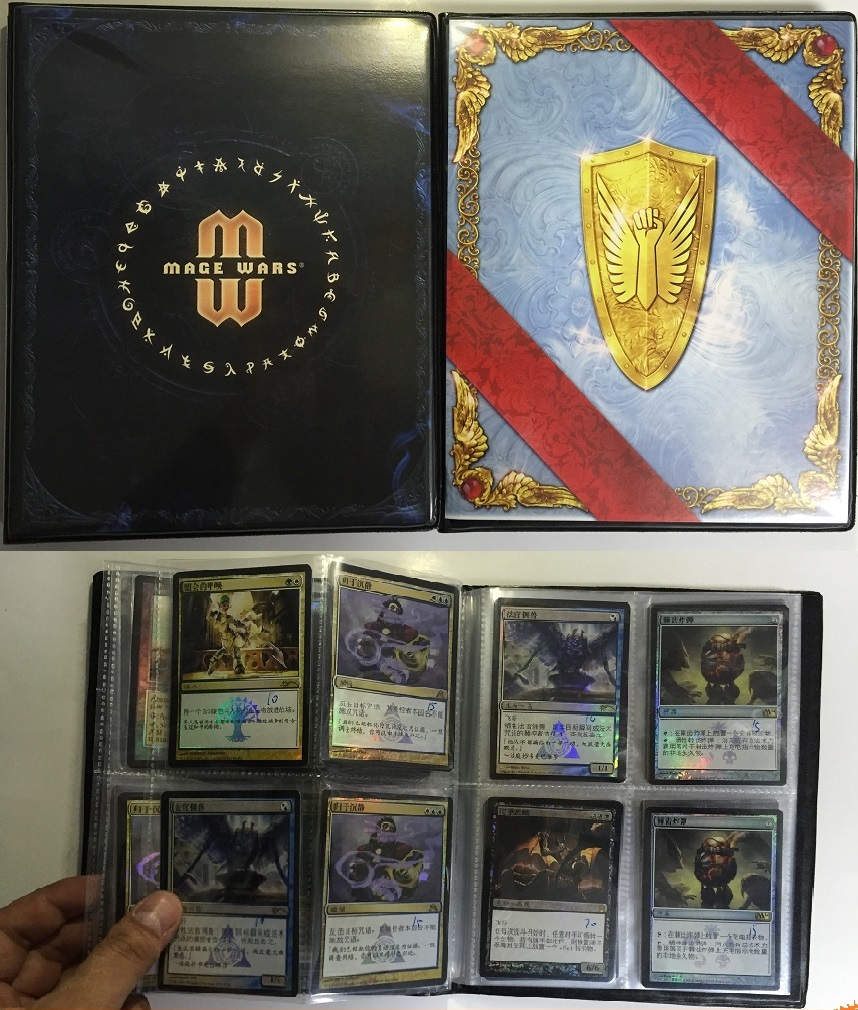 20 pages Board game cards album collection star card book