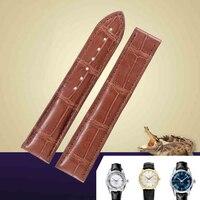 Мужчины и женщины Общего назначения часы аксессуары Бамбука текстуры Крокодиловая кожа Натуральная кожа Ремешок Для Часов Черный Коричнев