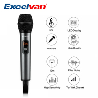 Excelvan K18 V Professional Bluetooth Microphone Wireless Light in weight with Receptor Support APP For Home Entertainment