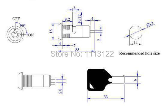Interruttore Blocco Colon Rod 5