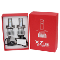 H4 Easy To Install 60W Each Bulb High Low Beam Super Bright Version Of X7 LED