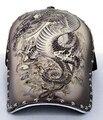 Hombre tatuaje personalidad de la moda calle gorra de béisbol gorras snapback sombrero patrón del dragón de tinta ilustraciones originales