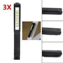 3PCS Portable 6LED Pen Flashlight Magnetic Clip LED Lamp Light For home car