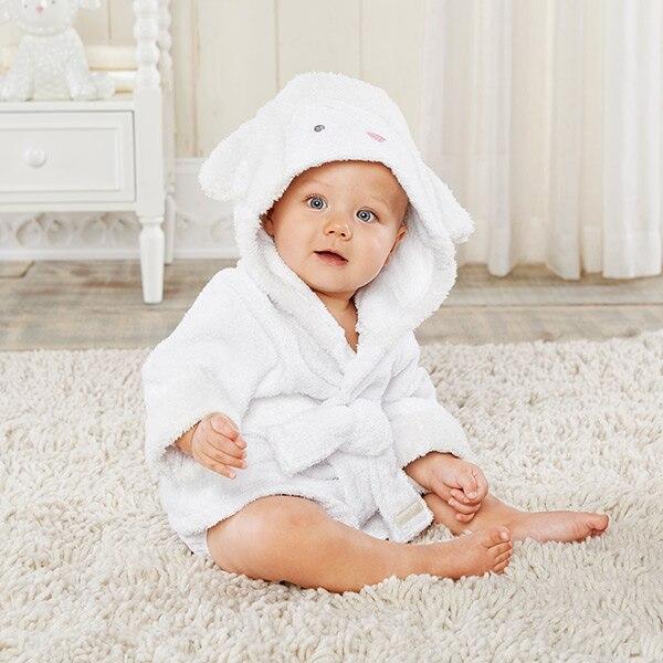 Розничная ; банные халаты для малышей; детское банное полотенце; Банное полотенце с капюшоном для младенцев; банный халат с рисунками животных; модельный банный Халат - Цвет: sheep0-2Y baby