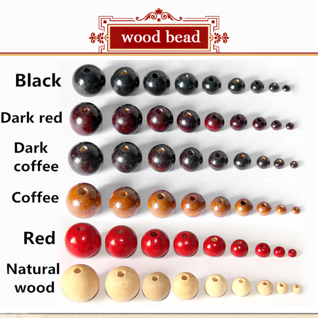 100Pcs/Pack 4 20mm Full Size 6 Color Assorted Wooden Round