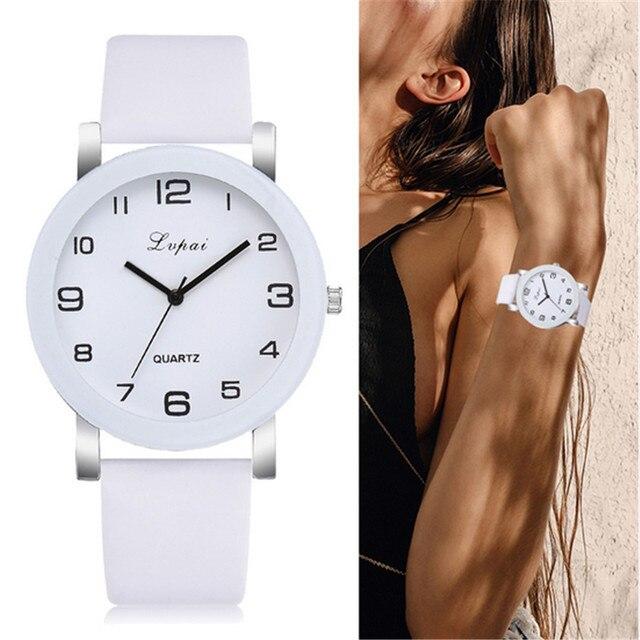 Lvpai marque montres à Quartz pour femmes de luxe Bracelet blanc montres dames robe horloge créative montres nouveau Relojes Mujer 233