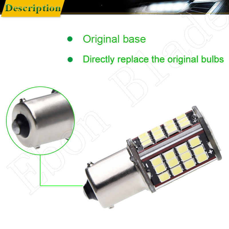 Image 5 - Pair 1156 BA15S P21W Led Auto Light 2835 56 SMD Lights Backup Reverse Turn Signal Bulb Lamp DRL Voiture Car Styling White 6V DC-in Signal Lamp from Automobiles & Motorcycles
