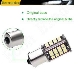 Image 5 - Pair 1156 BA15S P21W Led Auto Light 2835 56 SMD Lights Backup Reverse Turn Signal Bulb Lamp DRL Voiture Car Styling White 6V DC
