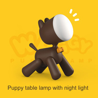 Dog Night Light Lamp Table Reading Lamp USB Chargeable Cute Dog Kids Cartoon Nightlight Lamps can CSV