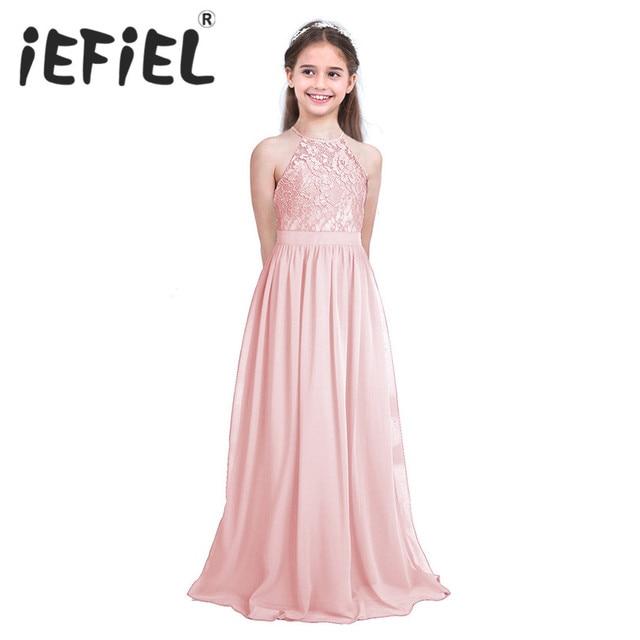 080768870 Las niñas chico/niños Perla Rosa vestidos de flores niña primera comunión  vestido para dama de honor de boda y cumpleaños fiesta Formal