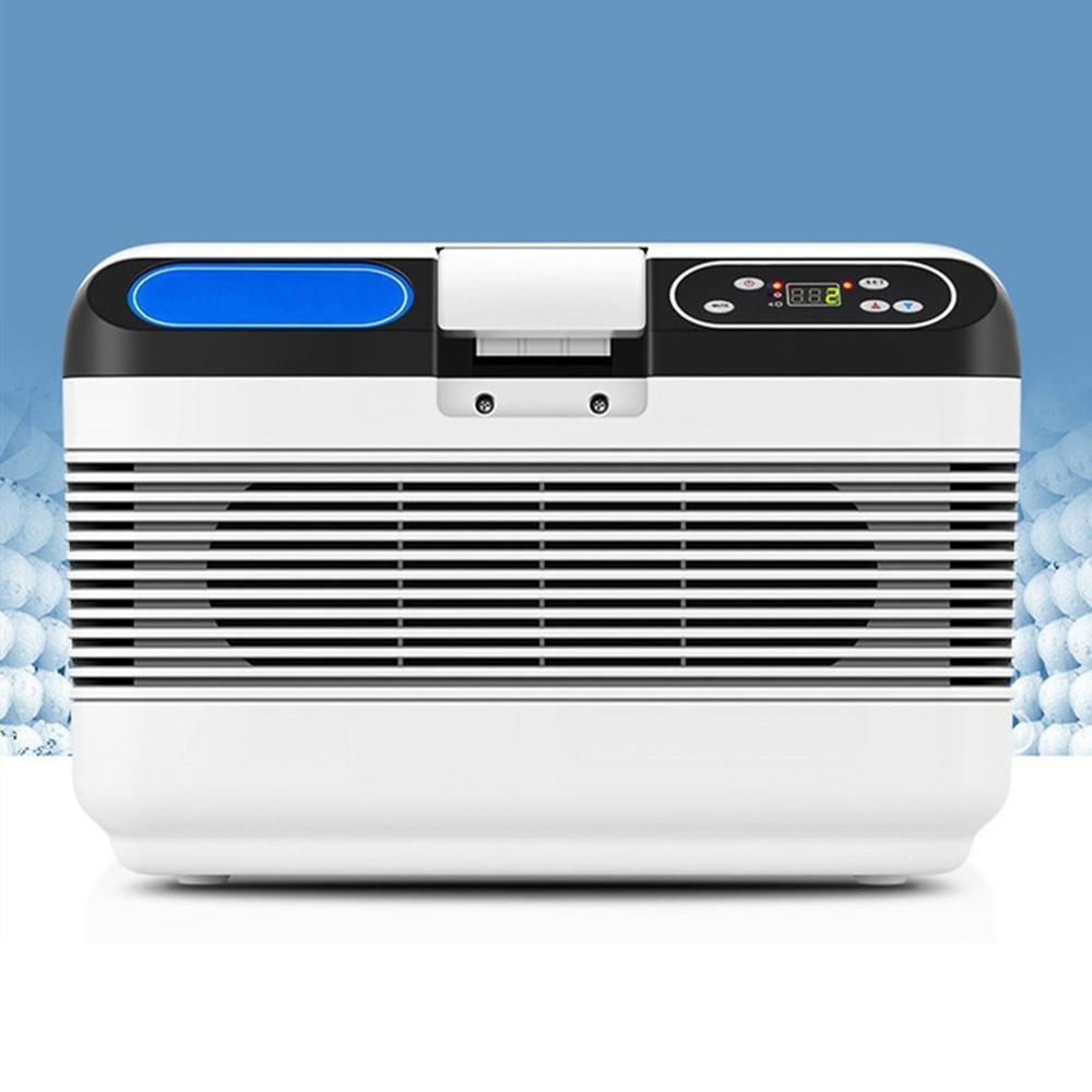 12L Bianco di Refrigerazione Auto Frigorifero Caldo e Freddo Auto A Casa Doppia Doppia di Raffreddamento 220 V AC/12 V DC