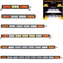 12V 24V LED ışık çubuğu 90W 120W 150W 180W 210W 240W 270W 300W beyaz Amber Combo 4x4 Offroad Barra araba LED çalışma lambası