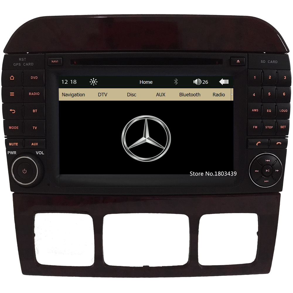 7″ Capacitive Screen Car DVD Player Radio Stereo GPS For Mercedes-Benz S CLClass W220 W215 S550 S600 S350 S400 S280 S320 S65 AMG