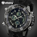 INFANTRY Mens LED Digital Watches Luxury Luminous Quartz Wristwatch Water Resistant Auto Date Alarm Clock Sports Watch Relojes