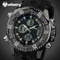 INFANTRY Mens LED Digital Watches Luxury Luminous Quartz Wristwatch Water Resistant Auto Date Alarm Clock Sports Watch Relojes