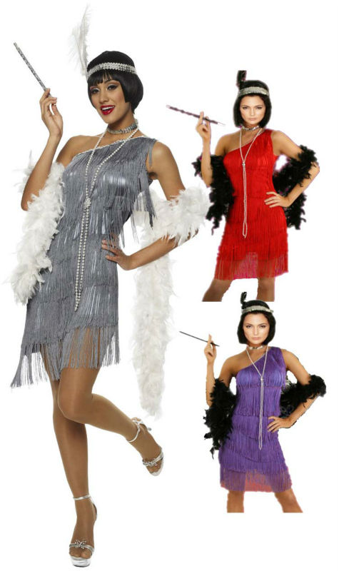 Free Shipping Black Red Silver Flapper Costume 459 G58 1920s Roaring 20s Charleston Dress With Feather Boa Headband Size S 3xl On Aliexpress