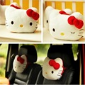 2PCS One pair Lovely Pink Hello Kitty Car Headrest Car Accessories hello kitty car-styling Headrest car interior Free Shipping