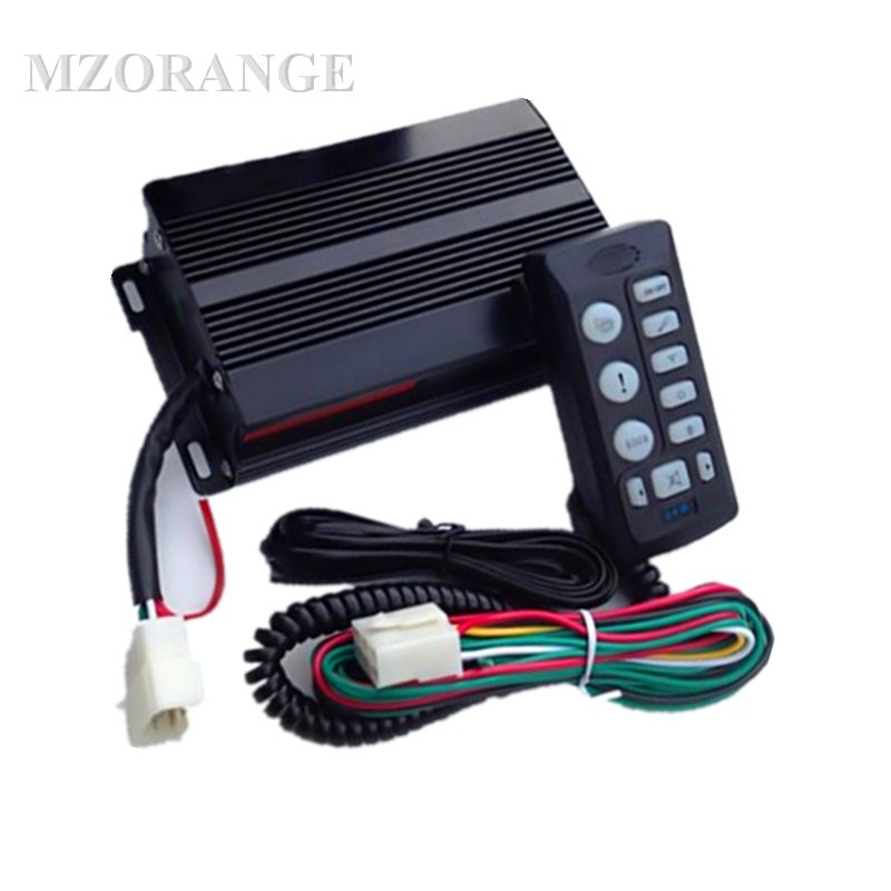 12V 200W 9 Sound Car Electrical Siren High Power 200W car siren 9 tones Warning Siren Alarm with controller anti cut siren alarm dc 9 12v
