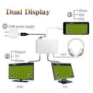 Image 2 - Alta calidad HDTV Cable OTG para Lightning a HDMI VGA AV Audio video adaptador de 8 pines para iPhone X Xs X Max XR para iPad aire Mini iPod