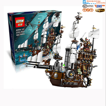 2016 LEPIN 16002 Pirate Ship 2791pcs Metal Beard's Sea Cow Model Building Kits Minifigure Blocks Bricks Compatible with Legoe