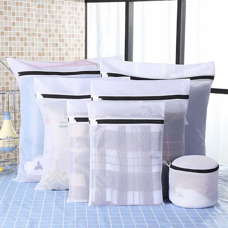 IVSHION Clothes Laundry Bag Black Nylon Case For Underwear Clothes Washing Bag Set Machine Laundry Bag Protection Net Mesh Bags