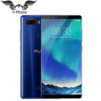Nubia ZTE originais Z17S 5.73 polegada de Tela Cheia Do Telefone Móvel 8 GB RAM 128 GB ROM Snapdragon 835 Octa Core 4 Câmera 3100 mAh Celular
