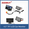 "New 4.3 ""TFT LCD Monitor Do Carro Reversa Retrovisor Color Camera DVD VCR CCTV Car Styling Acessórios"