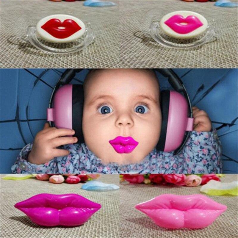 1 Pc Baby Rot Lippen Küsse Flasche Pinsel Silikon Lustig Nippel Witz Streich Kleinkind Zähne Baby Fütterung Produkt 896270