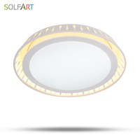 CS89804 Remote Control Mounted Curved Fixture Modern Led Chip Dimming Acryl Round Bedroom Ceiling Lights Lighting