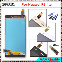Sinbeda 100 New 5 0 TFT LCD Screen For Huawei P8 Lite LCD Display Touch Screen