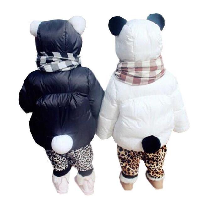 Lovely Winter Children Girls Warm Down & Parkas Children Outerwear Jacket & Coat for girls, Cartoon Panda Down Jacket RA5-13H