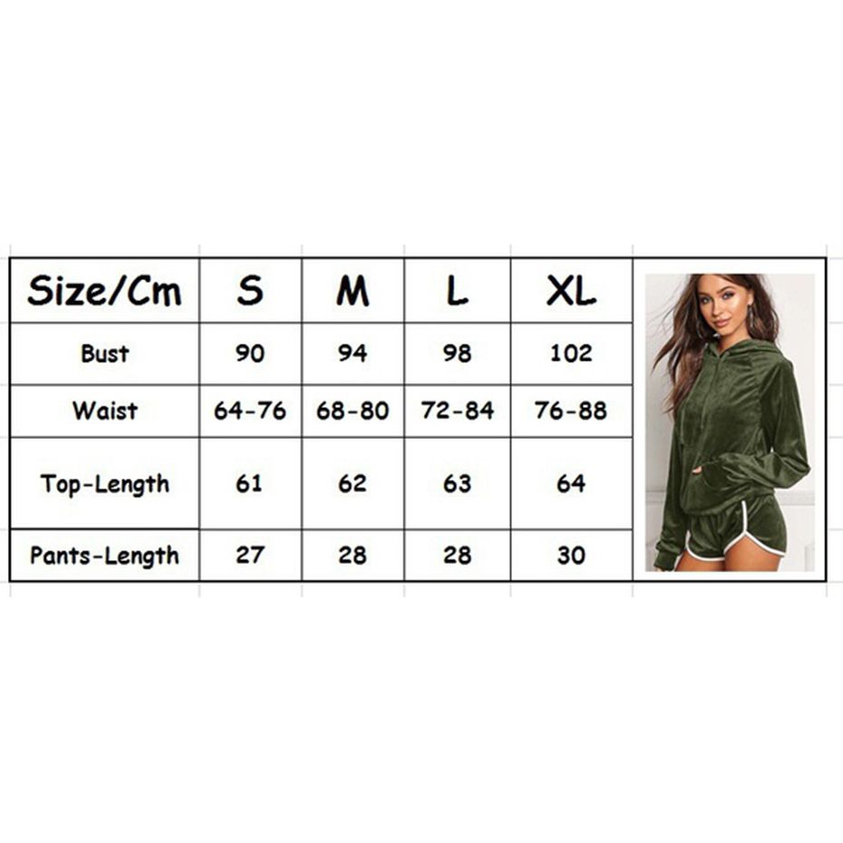 ZOGAA 2019Hot Sports Suit Women Casual Loose Short Long Sleeve Hoodies+Short Pants 2 Piece Sports Suit Solid Color Female Summer