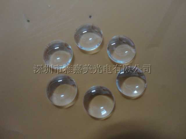 PMMA LED-Linse Durchmesser 10mm Höhe 2,7mm Doppel konvexe Linse, LED optische Linse, 1 Watt 3 Watt 5 Watt Laser Licht Linsen
