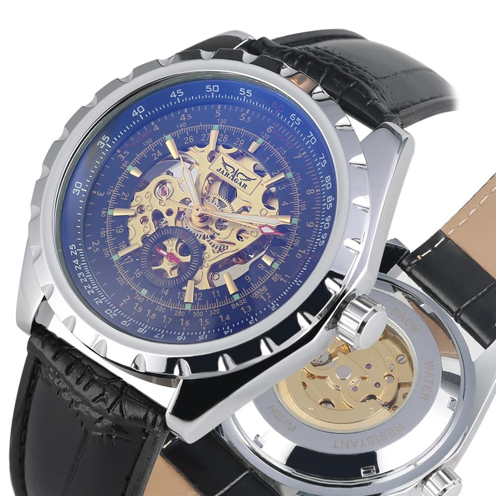 Automatic Watch Luxury Top Brand Mechanical Men Tevise Skeleton Watches Bussiness Dress Wrist Clock horloges mannen