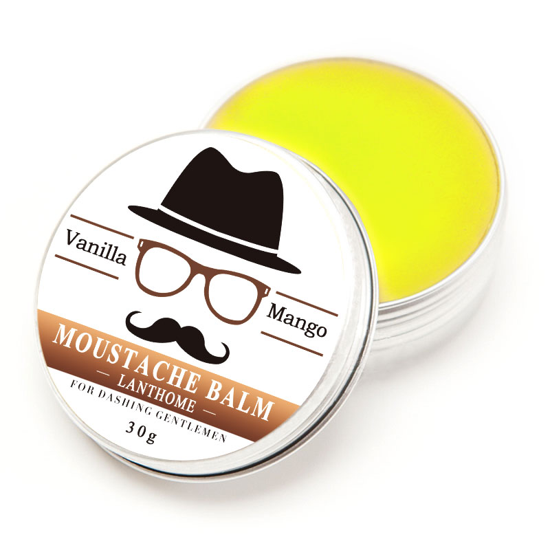 30G Gift Natural Beard Oil Conditioner Beard Balm for Beard Growth and Organic Moustache Wax for Beard Styling