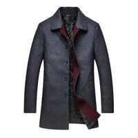2018 8XL 9XL10XL 4XL High Grade New Fashion Brand Clothing Jacket Men Wool Coat Pea Coats