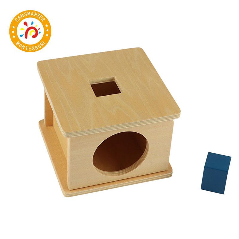 Montessori Kids Toy Imbucare Box w Cube Educational Early Learning Toys For Children