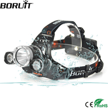 BORUiT RJ 3000 6000LM XM L2 R5 Headlight 4 Mode Headlamp Rechargeable font b Flashlight b