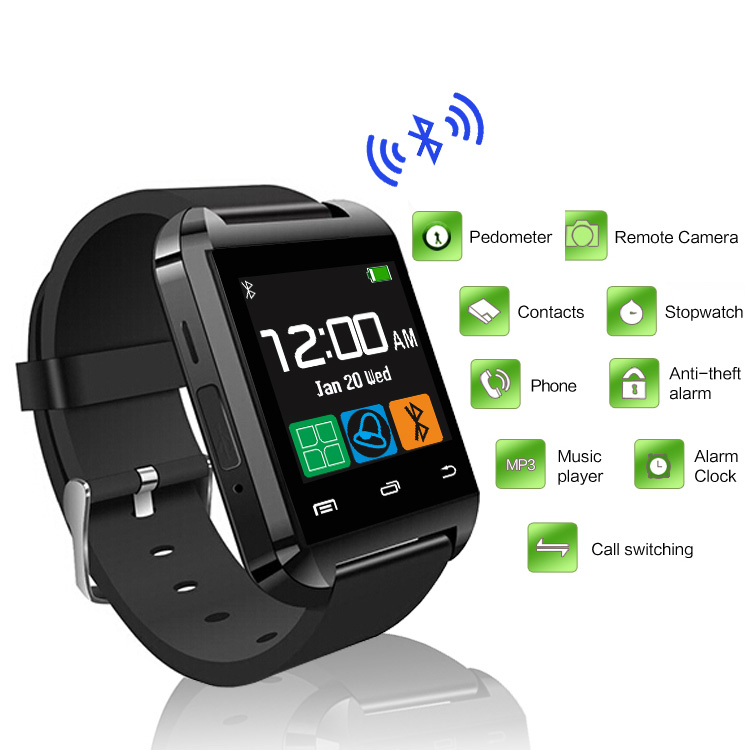 Bluetooth Watch U8 Smart watch Clock Sync Notifier Connectivity Fitness track For Android Phone Smartwatch Watches