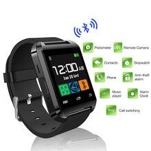 Notificador de conectividad bluetooth u8 reloj smart watch reloj de sincronización de pista de fitness para android teléfono smartwatch relojes