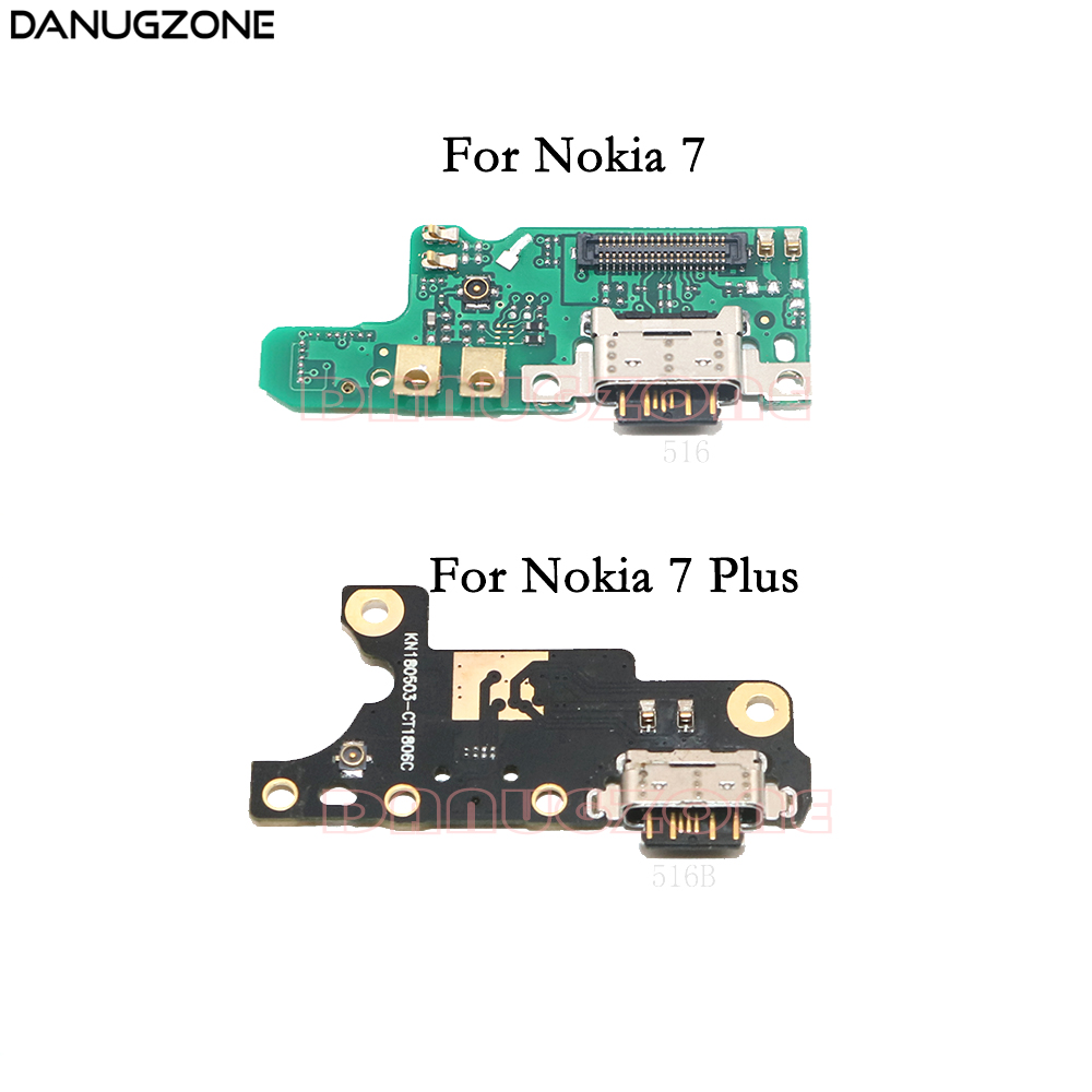 USB Charging Dock Port Socket Jack Connector Charge Board Flex Cable For Nokia 7 Plus TA-1046/1049 TA-1055 TA-1062 / For Nokia 7