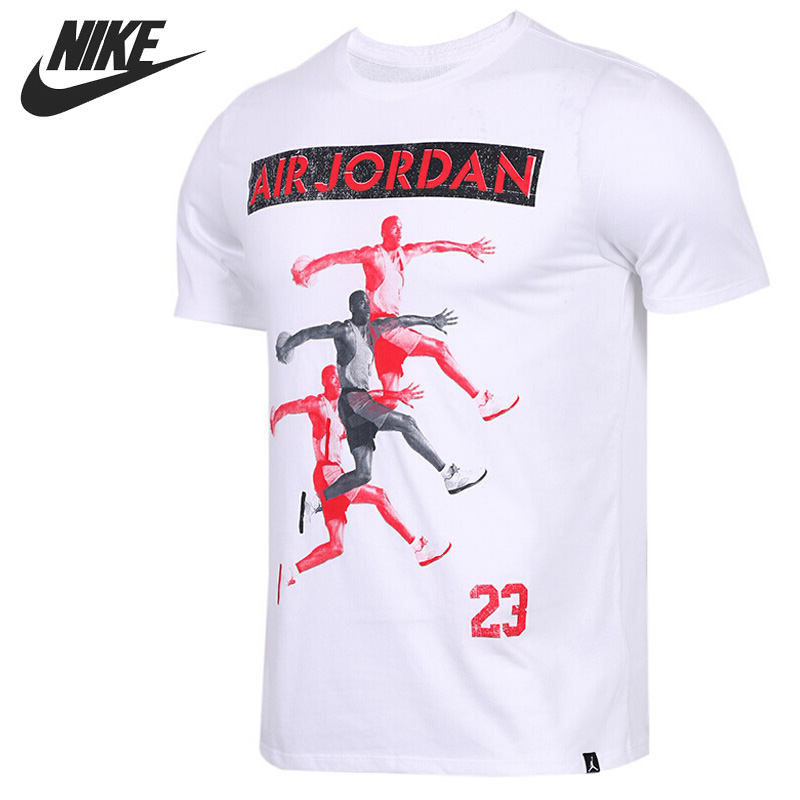 Original New Arrival 2018 NIKE JBSK TEE SU PHOTO Men's T-shirts short sleeve Sportswear original new arrival 2017 nike as m nk dry tee db st bm 1 men s t shirts short sleeve sportswear